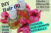 DEJAR pelo pérdida y mejorar pelo crecimiento natural hibisco aceite de tratamiento eficaz en casa
