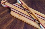 Elegante tablero de madera