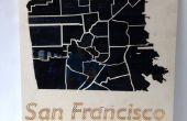 Cómo hacer un láser corte mapa de San Francisco