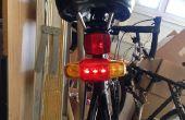 Luz intermitente y luz de freno de la bicicleta