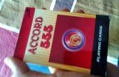 Truco de magia negra y roja tarjeta