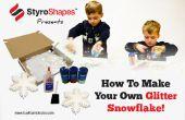 Copo de nieve de espuma de poliestireno brillo artes