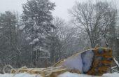 Huellas de yeti Yeti pies-hacer en la nieve!