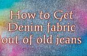 Cómo conseguir tela de mezclilla de los pantalones vaqueros viejos