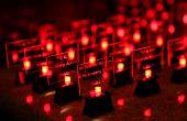 Hacer su propio LED mesa de tarjetas de la boda