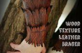 Tutorial de brazal de cuero de textura de madera