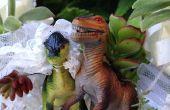 ¿Ambos aman unos a otros y los dinosaurios? Crea tu estilo Jurásico de pastel de boda con suculentas y los dinosaurios!!!!