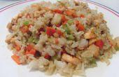 Cómo hacer mariscos arroz frito