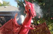 "Halloween 2009: ""Fire"" breathing dragon with articulated wings"
