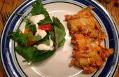 Cazuela de pollo de Dorito y sin hornear galletas--cena rápida y fácil