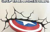 Escudo de Capitán América decoración de la pared