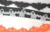 Serpentinas de cadena de papel de Halloween fácil