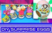 BRICOLAJE cómo hacer sorpresa de huevos con caramelo / juguete contenedores