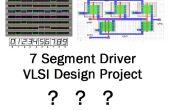 ¿Cómo diseñar siete segmentos display driver chip en VLSI concepto por primera vez!?