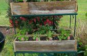 Construir jardineras rústicas de esgrima reciclado
