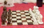 Juego de ajedrez de chocolate fruta