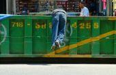 Cómo buceo contenedor de basura