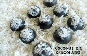 Bombones de aceite de coco casero ~ sin azúcar y baja en carbohidratos!
