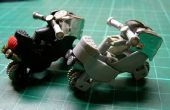 Modelo de juguete de la motocicleta con 2 unidades de encendedores de gas