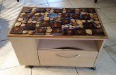 Tapa de madera de resina artística para mesa freebie