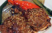Pollo con salsa de Mole al horno