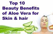 Top 10 beneficios de belleza de Aloe Vera para piel y cabello