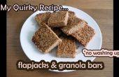 """Flapjacks & barritas - """"no lavar"""" receta fácil"""