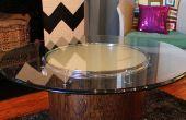 Cómo hacer una mesa de café que brilla intensamente de un tambor reciclado