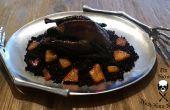 Aves más asqueroso - asado negro Silkie pollo ahumado pimentón frotar