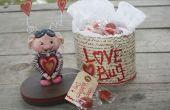 San Valentín arcilla amor error tratar la caja de papel!!