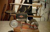 Pasatiempos de la década de 1950 pedal sierras de marquetería rehecho.