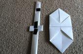 Escudo y espada de papel