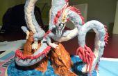 Escultura de Dragon de arcilla