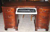 Computadora escritorio de aparador antiguo