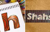 Cómo hacer placas personalizadas con Quilling las tiras de papel | DIY Quilled carta en papel | Decoración para el hogar