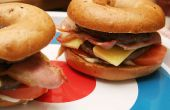 Bacon Cheeseburger doble de Bagel