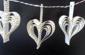 Guirnaldas de papel de libro del corazón