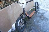 Convertir una antigua bici de los cabritos en una moto de tiro picado