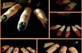 Galletas de dedos espeluznante espeluznante