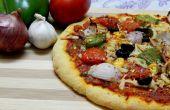 Pizza vegetariana de harina en el horno..!!