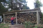 Construcción de un cobertizo de madera de Cob
