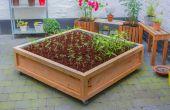 Metros cuadrados de jardín vegetal sobre ruedas