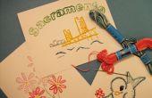 Bordado tarjetas postales