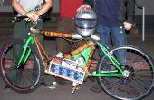 Ligera motocicleta eléctrica con marco de bambú