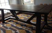 Mesa de comedor de estilo casa de campo rústica
