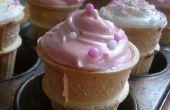 Cupcakes de cono de helado!