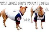 Modificar camisas humanas para adaptarse el cuerpo de un perro