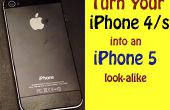 Evolución: Convertir un iPhone 4/s a una imitación 5!