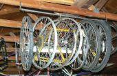 Viga rápido y fácil montaje almacenamiento de rueda de bicicleta