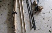 Arco de bambú y flecha